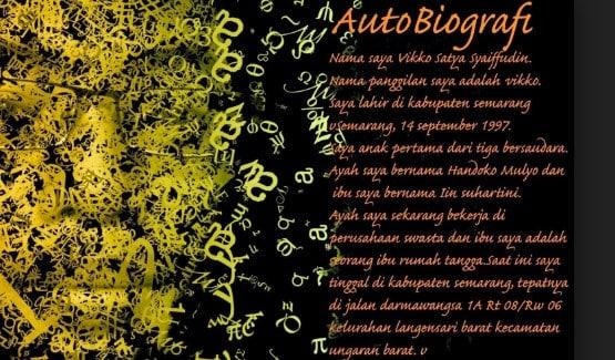 √Autobiografi : Pengertian , Ciri, Jenis, Struktur, Tujuan, Kedah dan Contohnya