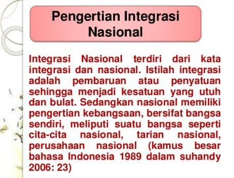 Makna Integrasi Nasional