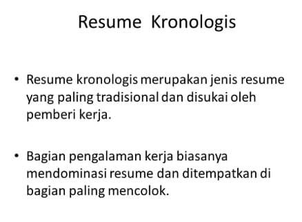 pengertian Resume