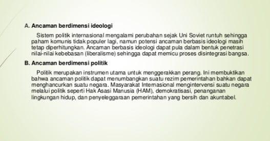 Ancaman Bidang Politik