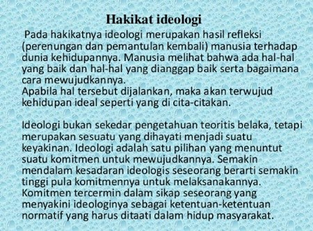 Hakikat Ideologi