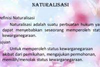 Definisi Naturalisasi