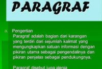 √ Pengertian Paragraf : Ciri, Jenis Beserta Fungsinya