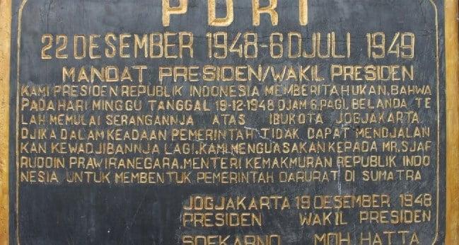Pemerintahan Darurat Republik Indoensia: Latar Belakang dan Peranan