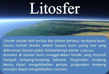 Pengertian Litosfer
