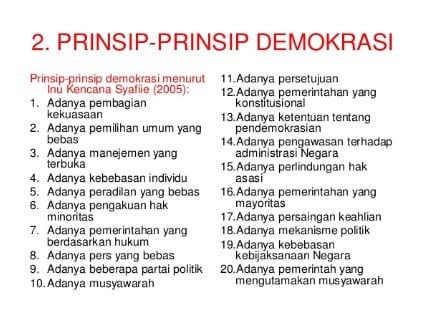 √ Prinsip Demokrasi : Pengertian ,Ciri ,Prinsip ,Macam ,dan Contohnya