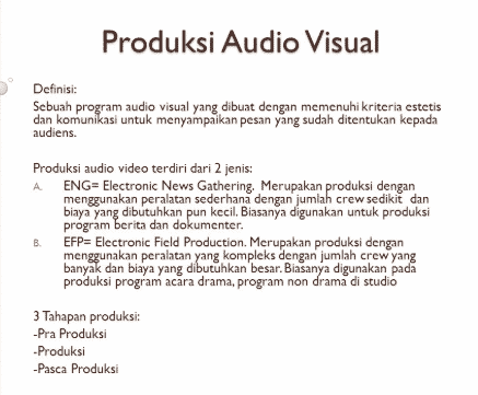 Apa itu Audio Visual