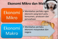 pengertian ekonomi makro dan mikro