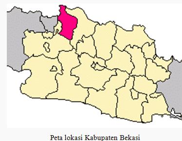 peta lokasi bekasi