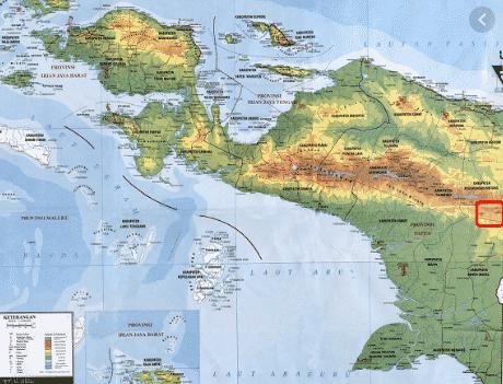 peta pulau papau