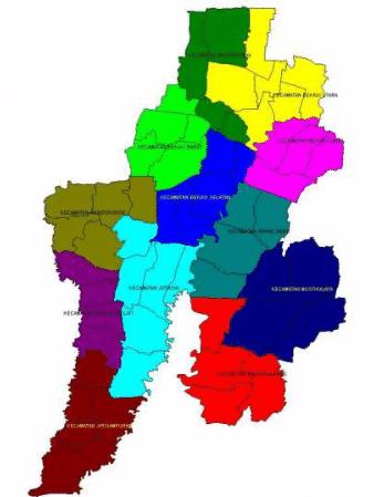 peta kota bekasi