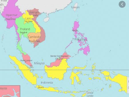peta negara aasean