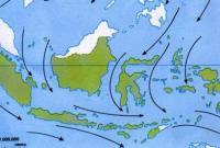 peta angin muson barat