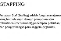 Staffing-Adalah