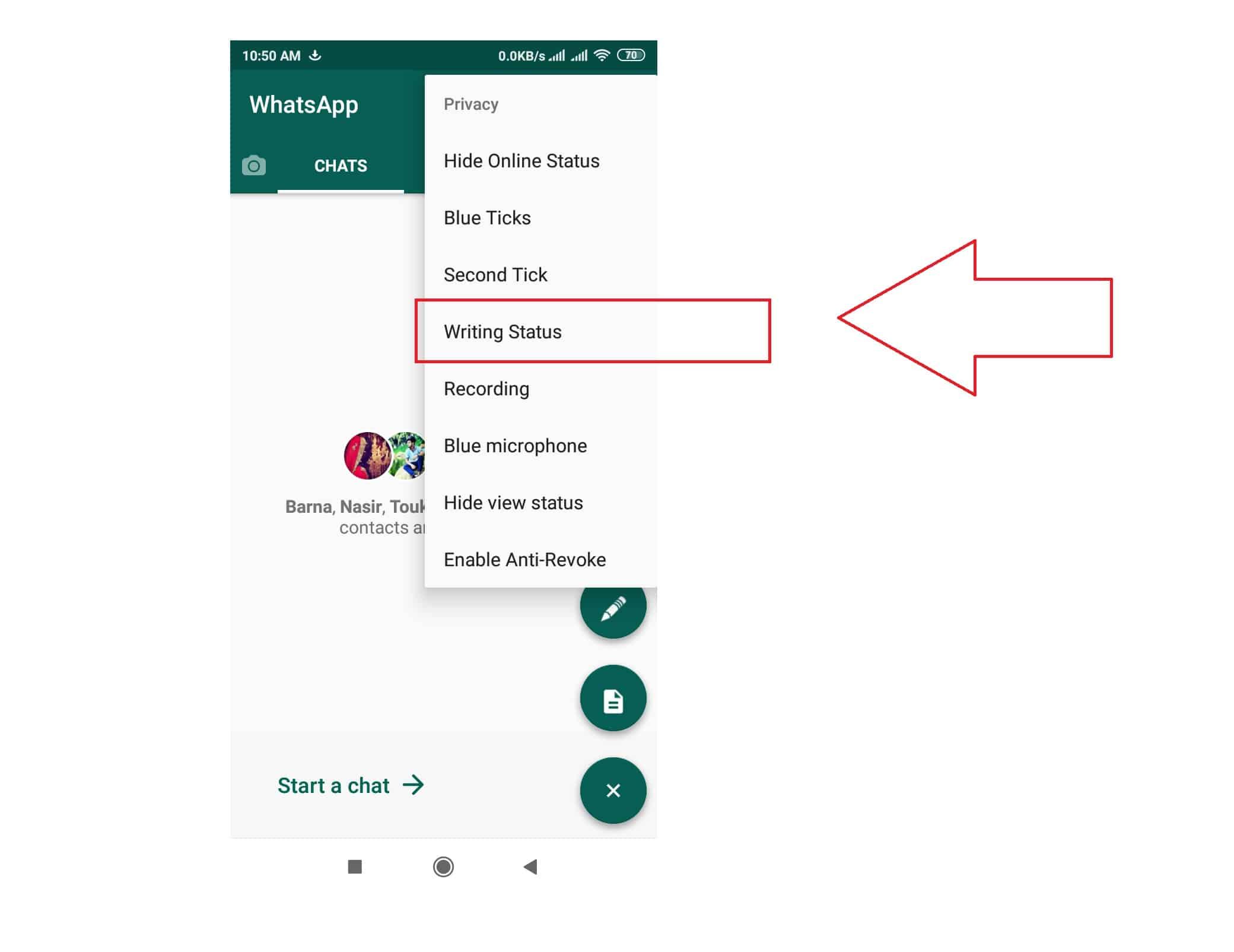 Cara-Menghilangkan-Status-Typing